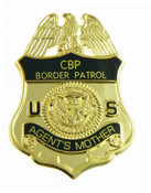 U.S. Border Patrol Agent's Mother Mini Badge refrigerator magnet