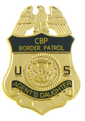 U.S. Border Patrol Agent's Daughter Mini Badge Refrigerator Magnet