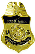 U.S. Border Patrol Agent's Girlfriend Mini Badge Refrigerator Magnet