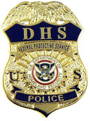 DHS Federal Protective Service Police Mini Badge refrigerator magnet