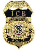 ICE Federal Protective Service Police Mini Badge Refrigerator Magnet