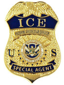 ICE Federal Protective Service Special Agent Mini Badge Refrigerator Magnet