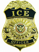 Immigration and Customs Enforcement Officer Mini Badge Refrigerator Magnet - 1.25""