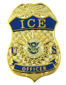 """Immigration and Customs Enforcement Officer Mini Badge Magnet - 1.5"""""""