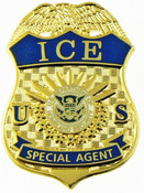 Immigration and Customs Enforcement Special Agent Mini Badge Magnet - 1.5""