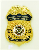 ICE Homeland Security Investigation Special Agent Mini Badge Magnet