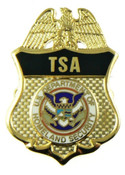 Transportation Security Administration Mini Badge Lapel Pin