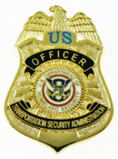 Transportation Security Administration Officer Mini Badge Refrigerator Magnet