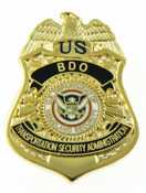 Transportation Security Administration BDO Officer Mini Badge Refrigerator Magnet