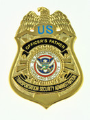 Transportation and Security Administration Officer's Father Mini Badge Refrigerator Magnet