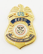 Transportation Security Administration Federal Flight Deck Officer Mini Badge Refrigerator Magnet