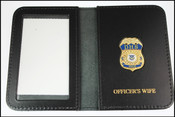 Department of Homeland Security Spouse Mini Badge ID Holder Case w/Officer's Wife Embossing