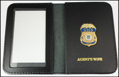 Department of Homeland Security Officer Spouse Mini Badge ID Holder Case w/ Agent's Wife Embossing