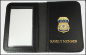 Department of Homeland Security Spouse Mini Badge ID Holder Case w/Family Member Embossing