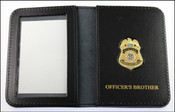 TSA Officer Mini Badge ID Case w/Officers Brother Embossing