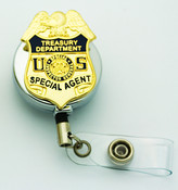 Treasury Department Special Inspector General Special Agent Badge ID Reel - Chrome