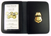 Air and Marine Operations Agent's Wife Mini Badge Leather ID Wallet