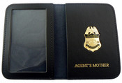 "AMO Marine Interdiction Agent Mini Badge with ""Agent's Mother"" Embossed ID Wallet"