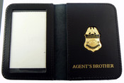 "AMO Marine Interdiction Agent Mini Badge with ""Agent's Brother"" Embossed Wallet"