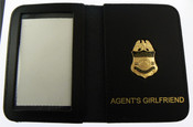 "AMO Marine Interdiction Agent Mini Badge w/ ""Agent's Girlfriend"" Embossed Wallet"