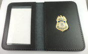 TSA Federal Flight Deck Officer Mini Badge Leather ID Wallet