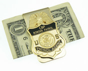 U.S. Border Patrol Mini Badge Money Clip