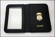 "DHS Federal Protective Service Police 1.25"" Mini Badge ID Case w/Retired Embossing"