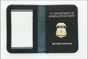 Immigration and Customs Enforcement Officer Mini Badge ID Wallet with Retired Officer Embossing
