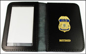 Immigration and Customs Enforcement Officer Mini Badge ID Wallet with Retired Embossing