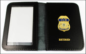 Immigration and Customs Enforcement Special Agent Mini Badge ID Wallet with Retired Embossing