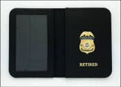 Homeland Security Investigations Special Agent Mini Badge ID Case with Your Choice of Embossing