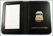 Immigration and Customs Enforcement Special Agent Mini Badge ID Wallet with Agent's Father Embossing