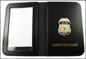 Immigration and Customs Enforcement Agent Mini Badge ID Wallet with Agent's Father Embossing