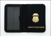 Homeland Security Investigations Special Agent Mini Badge ID Case with your choice of Family Members Embossing