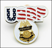 USBP Federal Agent Golf Ball Marker and USBP Hat Clip