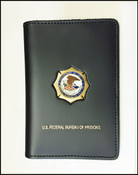 US Federal Bureau of Prisons Credential Case with a BOP Mini Badge Pin