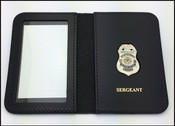 Dept. of Veterans Affairs Police Sergeant Mini Badge ID Card Holder Case with Sergeant Embossing