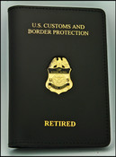 USBP Retired Credential Case with a Patrol Agent Mini Badge Pin