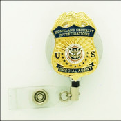 Chrome Homeland Security Investigation Special Agent Mini Badge ID Holder