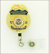 Gold Homeland Security Investigations Special Agent Mini Badge ID Holder