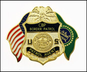 US Border Patrol Agent Mini Badge and Flag Magnet
