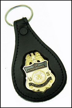 US Border Patrol Agent Mini Badge Key Ring