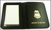 US Border Patrol Agent's Sister Mini Badge ID Card Holder Case
