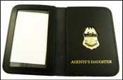 US Border Patrol Agent's Daughter Mini Badge ID Card Holder Case