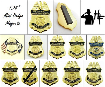 "Customs and Border Protection 1.25"" Mini Badge Magnets"