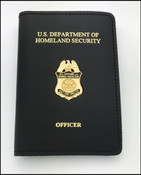 Embossed Customs and Border Protection Asst Port Director Mini Badge Credential Case - DHS &  Officer
