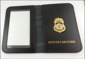 TSA Playbook Officer Mini Badge ID Case w/Officers Brother Embossing