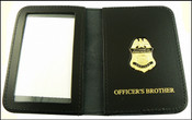 Customs and Border Protection Officer Mini Badge ID Case with Officers Brother embossing