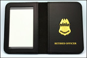 Customs and Border Protection Canine Officer Mini Badge ID Cases with Retired Officer Embossing