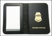 Customs and Border Protection Asst Port Director Mini Badge ID Cases with Retired Officer Embossing